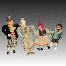 4 Wonderful Czech Marionettes Puppets Free P&I US Buyers