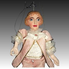 "Awesome 12"" Expressive Czech Marionette Puppet Free P&I US Buyers"