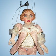 """Awesome 12"""" Expressive Czech Marionette Puppet Free P&I US Buyers"""