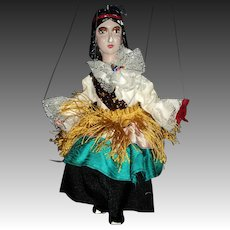 "Czech 11"" Gypsy Marionette  Puppet Free P&I US Buyers"