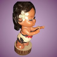 "Adorable  12"" Hawaiian Hula Musical doll Free P&I US Buyers"
