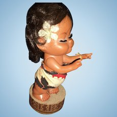 "Adorable  12"" Hawaiian Hula Musical doll Free P&I US Buyers"