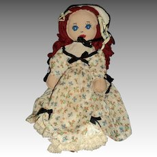"""14"""" Vintage Southern Belle Cloth doll Free P&I US Buyers"""