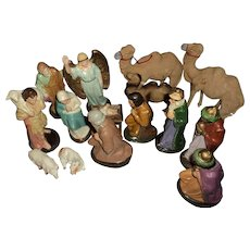 Nice German Nativity Scene  Free P&I US Buyes