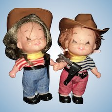 "Two 7"" Rootn Tootn Dakin Cowgirl dolls Free P&I US Buyers"