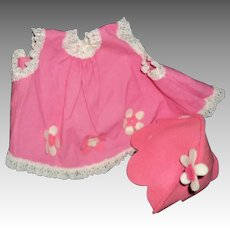 Large Flowers Vogue Doll outfit free P&I US Buyers!