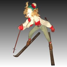 Wonderful old Klumpe Rodan Skier doll Free P&I US Buyer
