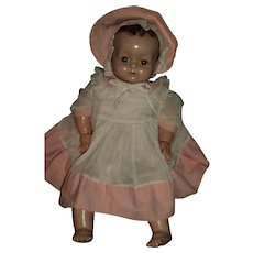 Composition Factory original Effanbee Baby Bright Eyes Doll Free P&I US Buyers