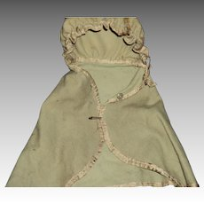Wool Cape for bisque or china doll Free P&I US Buyers