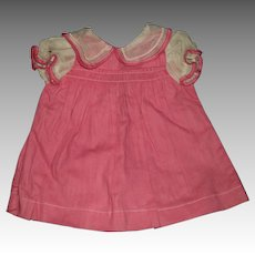 Adorable Smocked doll dress for Larger Effanbee Alexander compo doll Free P&I US BUyer