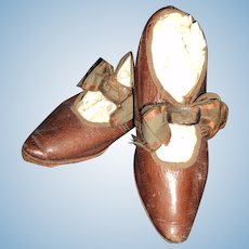 Beautiful Leather Shoes fot your Bisque Doll Free P&I US Buyers