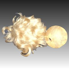 Small Blonde Antique Doll Wig and Pate Free P&I US Buyers