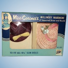 Boxed Set Vintage Hats for LMRevlon AC Toni Fashion dolls