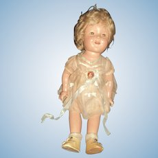 Beautiful all original Shirley Temple Compo doll w/ NRA tag Free P:&I US Buyers