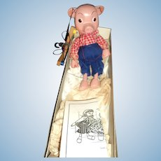 Perky Pig Pelham England Puppet Marionette Free P&I US BUYERS
