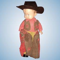 Wow! Effanbee Skippy COWBOY Doll Free P&I US Buyers
