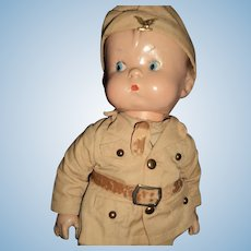 He is Adorable Army Effanbee Skippy Doll Free P&I US Buyers