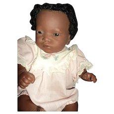 "18"" Adorable Furga sexed black doll Free P&I US Buyer"