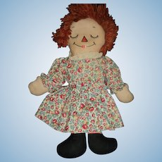 Wideawake Georgene Raggedy Ann Doll Free P&I US buyers!