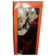 1990's Animated Dracula Halloween Motionette with Box Free P&I US Buyers