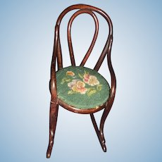Salesman's Sample 1800's  Bentwood Rocker perfect for your bisque or china doll Free P&I US Buyers
