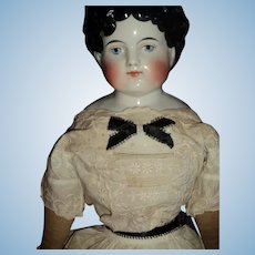"""Beautiful Large 24"""" China Doll with exposed ears Free P&I US Buyers"""