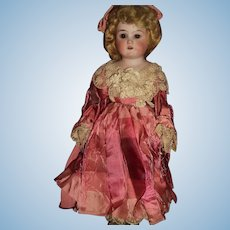 Beautiful Cabinet size German Bisque head Doll  Free P&I US Buyers