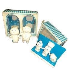 Pillsbury Playthings Granmommer & Granpopper & Poppin Fresh & Pals dolls w/orig box