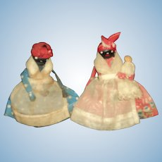 "Two 3.5 "" Miniature Mammy Nipple doll house dolls Free P&I US Buyers"