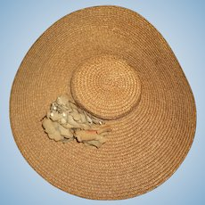 Beautiful Gone with Wind Straw Doll Hat