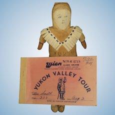 "9"" Yukon Alaskan Doll & Airline coupon Free P&I US Buyers"