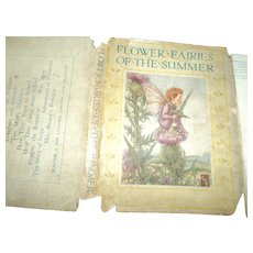 VHTF Flower Faries of Summer Book DJ Cicely Mary Baker. 24 plates Free P&I US Buyers