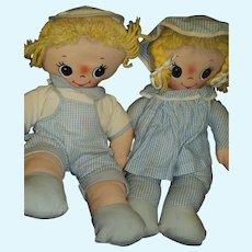 Cute cloth Musical Knickerbocker Twin Dolls Free P&I US Buyers