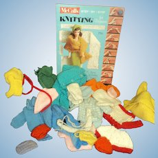 Vintage Barbie Knit clothes and booklet Free P&I US Buyers