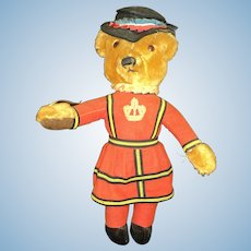 "Adorable Vintage 18"" Merrythought English Beefeater Teddy  Bear free p&I US Buyers"