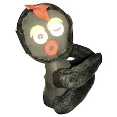 Adorable Black Flashing Eye Huger Doll Free p&I US Buyers
