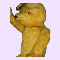 """24"""" Golden Mohair Teddy Bear straw filled Free P&I US Buyers"""