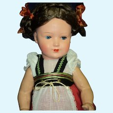 Very Pretty Vintage Celluloid Doll with braids Free p&i US Buyers