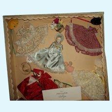 Beautiful Ruth Gibbs China doll Box set 4 outfits Free P&I US Buyers