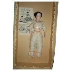 Ruth Gibbs Lovely China doll MIB Free P&I US Buyers