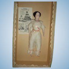 Ruth Gibbs Lovely China doll MIB Free P&I US Buyers