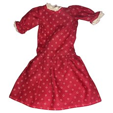 Cotton Print dress for smaller Bisque or China Doll Free P&I US Buyers