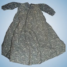 Lovely Slate Blue dress for larger China or Bisque doll Free P&I US Buyers