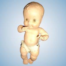 "Ruth Newton So Wee Sun Rubber 10"" Baby doll"