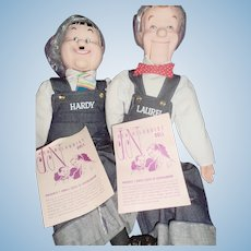 Laurel & Hardy MiB Ventriloquist  Dummy Puppets Free P&I US Buyers