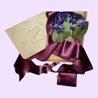 Vintage Violet Corsage Sacks Chicago Free P&I US Buyers