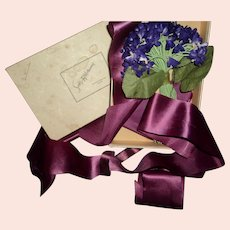 Vintage Violet Corsage Sacks Chicago Free P&I US Buyers