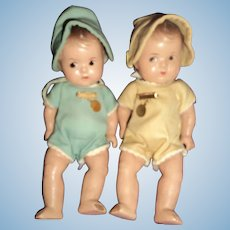Two Adorable Madame Alexander Dionne Quint dolls free P&I US Buyers