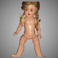 "Madame Alexander 14"" Compo)Princess Elizabeth doll(nude)Free P&I US Buyers"