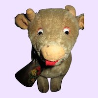 Cute Mohair Vintage Cow Free P&I US Buyers